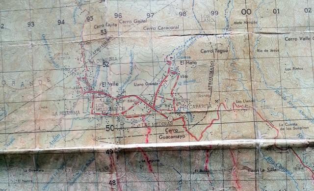 Mapa de El Valle barnizado